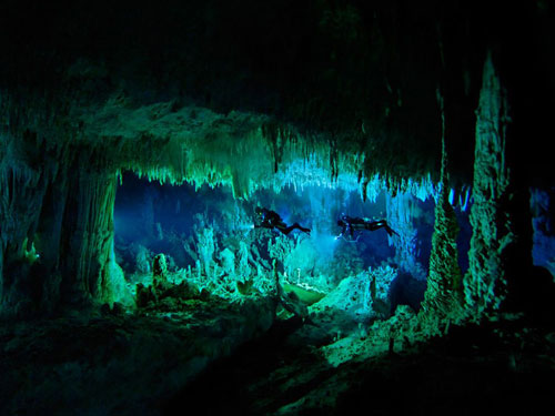 underwater cave bahamas skiles photography
