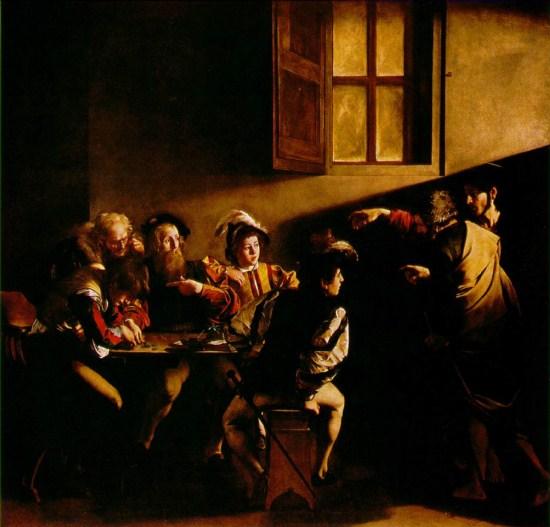 Caravaggio - Vocazione di S. Matteo