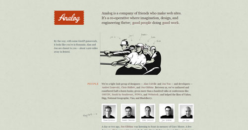 analog.coop HTML5 and CSS 3 inspiration showcase site