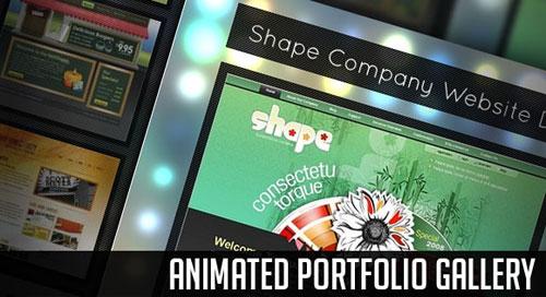 Animated Portfolio Gallery with jQuery tutorial