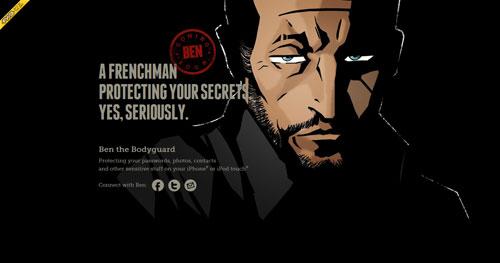 benthebodyguard.com HTML5 and CSS 3 inspiration showcase site