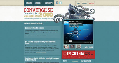 convergese.com HTML5 and CSS 3 inspiration showcase site