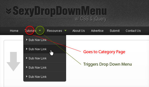Sexy Drop Down Menu w/ jQuery & CSS tutorial