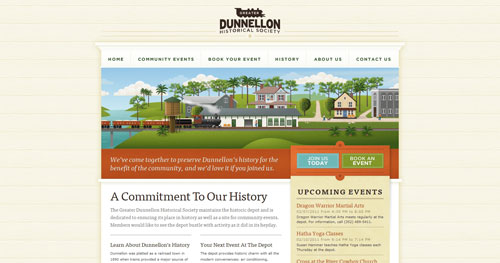 dunnellondepot.com HTML5 and CSS 3 inspiration showcase site