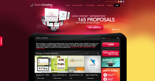 guerra-creativa.com Selection Of 45 Sites That Are Neat Thanks To jQuery
