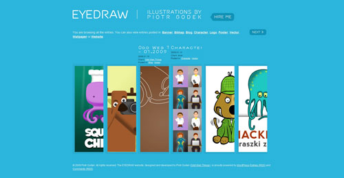 eyedraw.eu Selection Of 45 Sites That Are Neat Thanks To jQuery