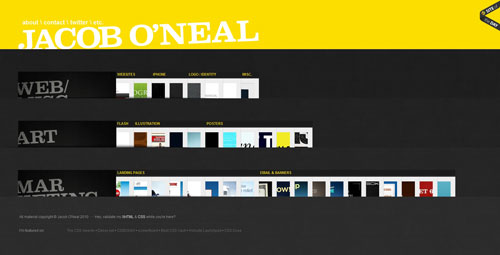 jacoboneal.com Selection Of 45 Sites That Are Neat Thanks To jQuery