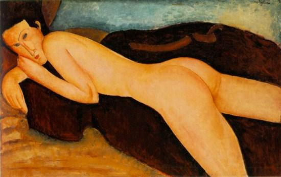 Modigliani - Nu couche dos