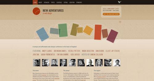 newadventuresconf.com HTML5 and CSS 3 inspiration showcase site