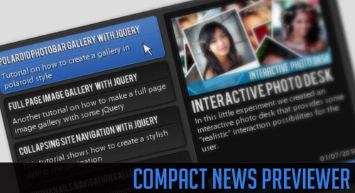 Compact News Previewer with jQuery tutorial