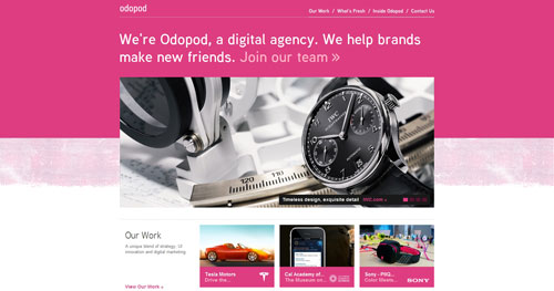 odopod.com Selection Of 45 Sites That Are Neat Thanks To jQuery