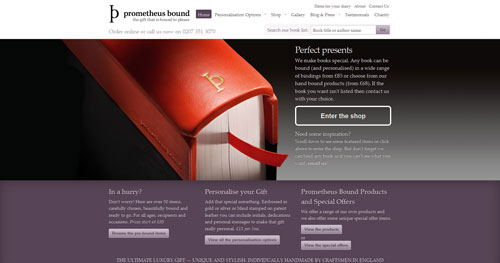 prometheusboundbooks.com Selection Of 45 Sites That Are Neat Thanks To jQuery