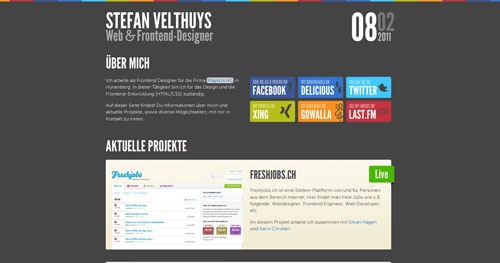 velthy.net HTML5 and CSS 3 inspiration showcase site