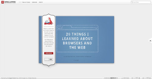 20thingsilearned.com HTML5 and CSS 3 inspiration showcase site