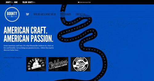 bountybev.com HTML5 and CSS 3 inspiration showcase site