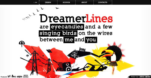 dreamerlines.lv Selection Of 45 Sites That Are Neat Thanks To jQuery