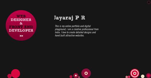 jayarajpr.com HTML5 and CSS 3 inspiration showcase site