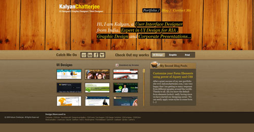 kalyanchatterjee.com Selection Of 45 Sites That Are Neat Thanks To jQuery