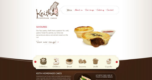 keithcakes.com.au HTML5 and CSS 3 inspiration showcase site