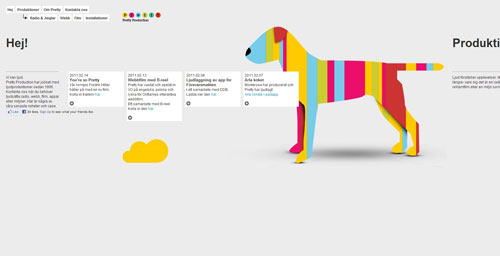 prettyproduction.com Selection Of 45 Sites That Are Neat Thanks To jQuery