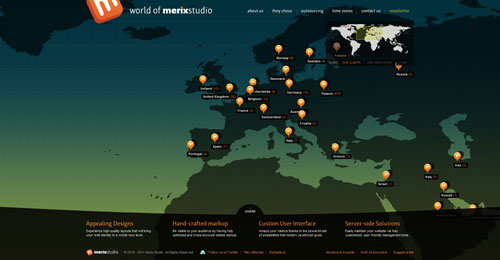 worldofmerix.com Selection Of 45 Sites That Are Neat Thanks To jQuery